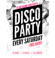 Night Dance disco Party design template in vector image