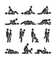 sexual position icons sex positioning vector image