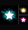 star frame template with bright light in vector image