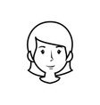 woman smiling cartoon vector image