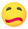 painfully smiley icon cartoon style vector image