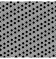 Simple black and white dot seamless pattern vector image