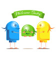 Welcome for the new baby vector image vector image