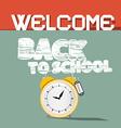 Welcome Back to School Retro vector image