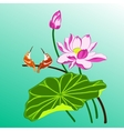 birds and lotus vector image