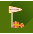 flat icon with long shadow North Pole vector image
