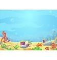 Underwater world blue sea starfish vector image