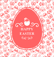 easter muzzle egg pink vector image vector image
