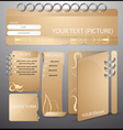 layout elements for web design vector image vector image