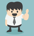 Businessman thumbs vector image