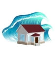 House flooding Property insurance vector image
