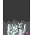 Industrial metal pipe stack design vector image