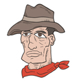 western man vector image