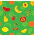 Seamless fruit pattern vector image