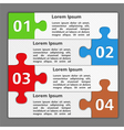 Design Template with Puzzle Pieces vector image