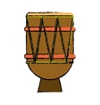 brasilian drum percussion bongo sketch vector image