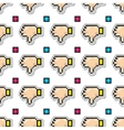 Thumbs down seamless pattern Negative vector image