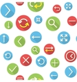Seamless pattern with icons vector image