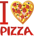 I love pizza vector image vector image
