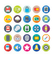 science and technology colored icons 6 vector image