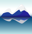 blue mountains with reflection in lake vector image