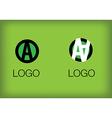 A logo monogram 2 vector image vector image