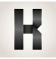 Letter metal ribbon - K vector image