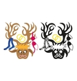deer with wedding decorations on its horns vector image