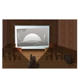 Old movie theater film screening at room vector image