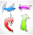 Arrows in various colors vector image