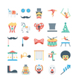 Circus Colored Icons 3 vector image