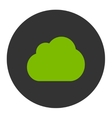 Cloud flat eco green and gray colors round button vector image