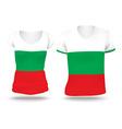 Flag shirt design of Bulgaria vector image