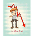 In the red idiom concept vector image