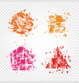 isolated abstract colorful geometric shapes of vector image