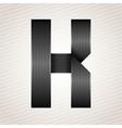 Letter metal ribbon - K vector image