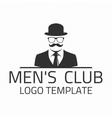 Men club logo vector image