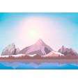 nature mountain landscape background vector image