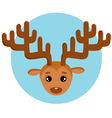 New years deer vector image