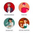 Profession people Detailed character vector image