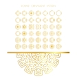 Traditional golden decor vector image