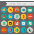 Trendy detailed web icon set vector image