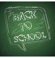 Education back to school chalkboard social bubble vector image