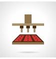 Chocolates making flat icon vector image