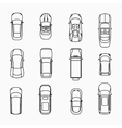 Car icons top view vector image vector image