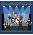 music band on stage entertainment show vector image