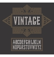 vintage label font modern style Whiskey vector image