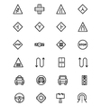 Road Outline Icons 3 vector image
