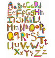 Colorful abc hand drawn vector image