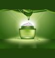 cosmetics bottle or container with aloe vera cream vector image